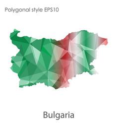 Isolated icon bulgaria map polygonal geometric vector
