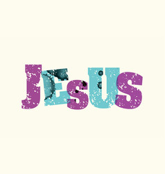 jesus concept stamped word art vector image