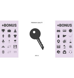 key symbol icon - graphic elements for your design vector image
