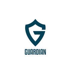 letter g logo for guard symbol vector image