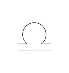 Libra line icon vector