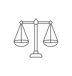 Libra thin line icon vector