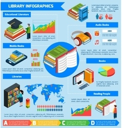 Library Isometric Infographics vector
