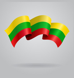 Lithuanian waving flag vector
