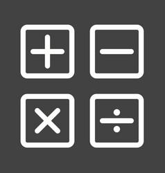 Math symbols ii vector