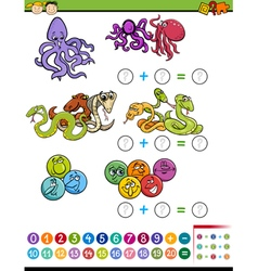Mathematical task for children vector