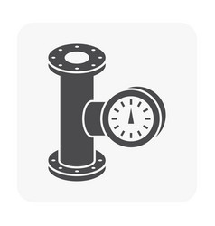 Meter pipe icon vector