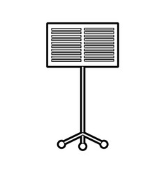 Music stand book concert melody vector