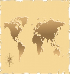 old map of the world vector image