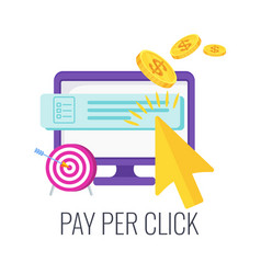 Pay per click infographics pictogram internet vector