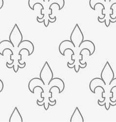 Perforated countered fleur-de-lis in row vector