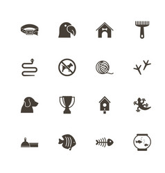 pets - flat icons vector image