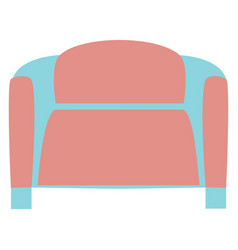 Pink sofa on a white background vector