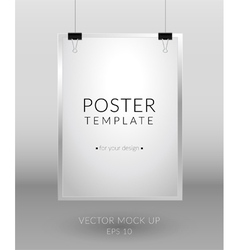 Poster template on light background vector image