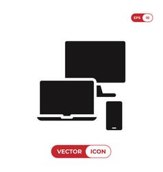 responsive icon vector image