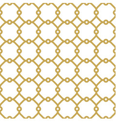 Seamless golden pattern in arabian style vector