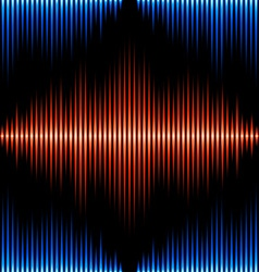Seamless pattern with sound waveform vector