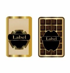 Set 2 gold framed labels vector