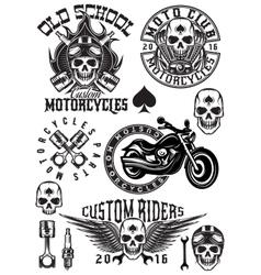 set badges logos design elements vector image