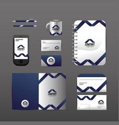 Set company stationary template with business vector