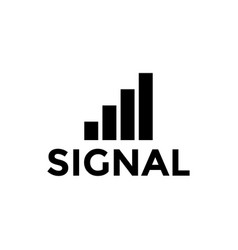 signal icon design template isolated vector image