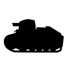 Silhouette tank renault ft17 french light tank vector