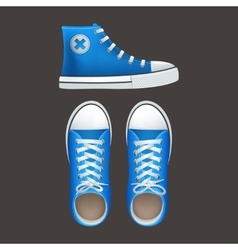 Sneakers tennies popular youth footwear icons vector