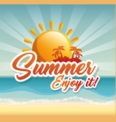 Summer beach design vector