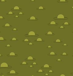 Swamp seamless pattern Big green morass texture vector image