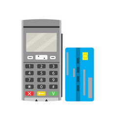 Terminal and credit card vector