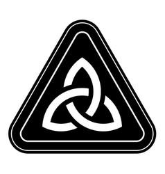 Tiangular celtic knot emblem traditional celtic vector