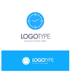 Time timer compass machine blue logo vector
