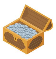 treasure chest icon isometric style vector image