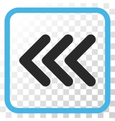 Triple Arrowhead Left Icon In a Frame vector