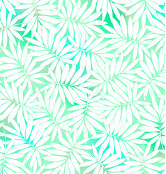 Tropical white and green leaves in a seamless vector