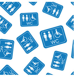 Wc toilet seamless pattern background business vector