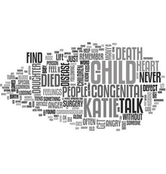 When your child dies text word cloud concept vector