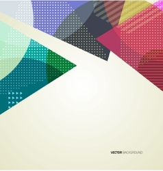 Abstract Triangle Brochure Flyer design vector image vector image