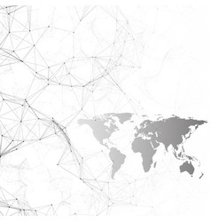 chemistry pattern black world map connecting vector image vector image
