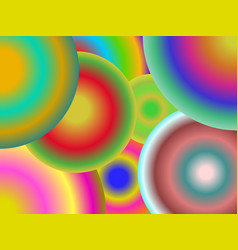 Concentric circles of different colors vector