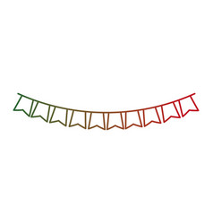 isolated pennant design vector image