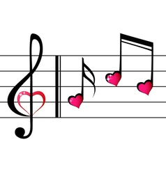 Music love - concept vector image