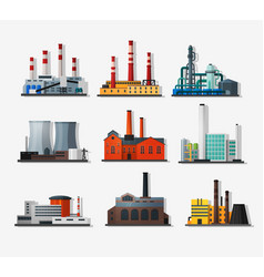 power plants vector image