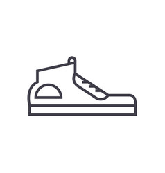 sneakers line icon sign on vector image