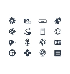 Air conditioning icons vector image
