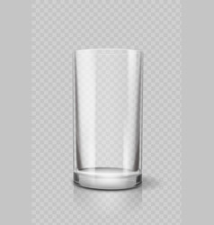 empty drinking glass cup for water vector image vector image