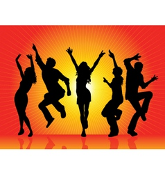 party silhouettes vector image vector image