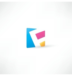 Abstract icon based on the letter vector image vector image