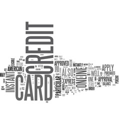 apply online for a credit card in canada text vector image vector image