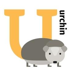 English animals zoo alphabet letter U vector image vector image